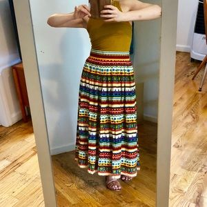 Vintage colorful maxi skirt from West Germany